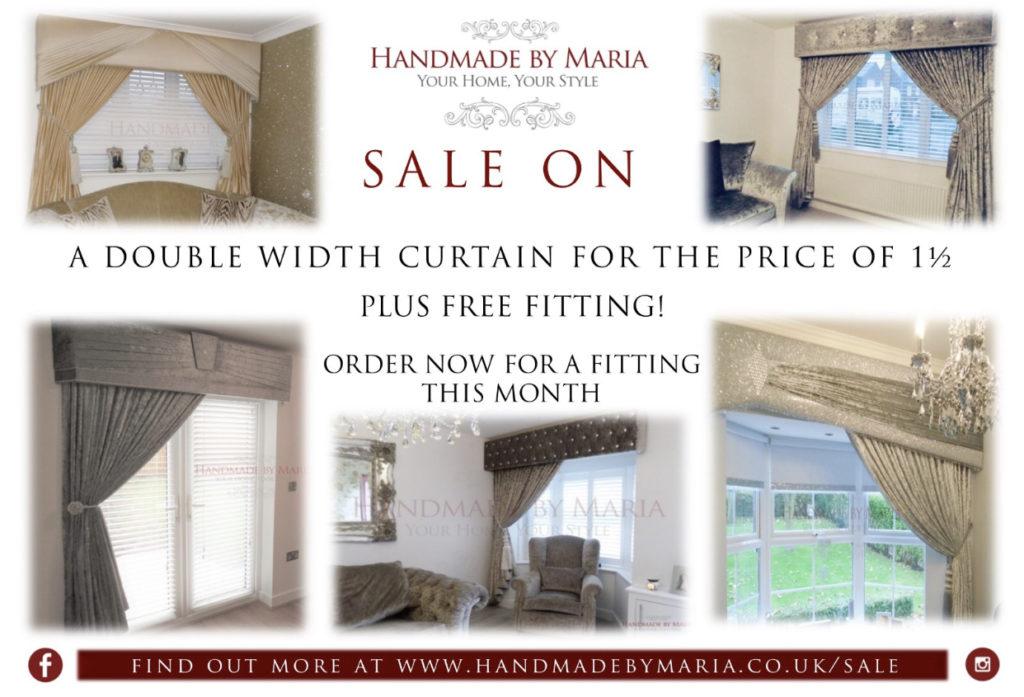 Sale now on - Pelmet & Curtain Set - Handmade by Maria