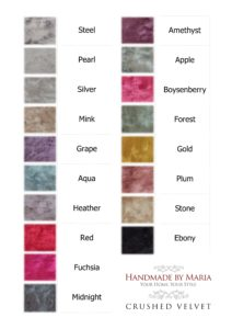 Pelmets & Curtain Fabric - Crushed Velvet