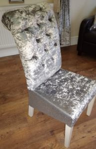 Silver Glitter Chair