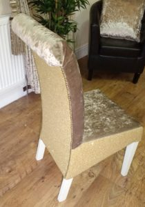 Gold Glitter Chair